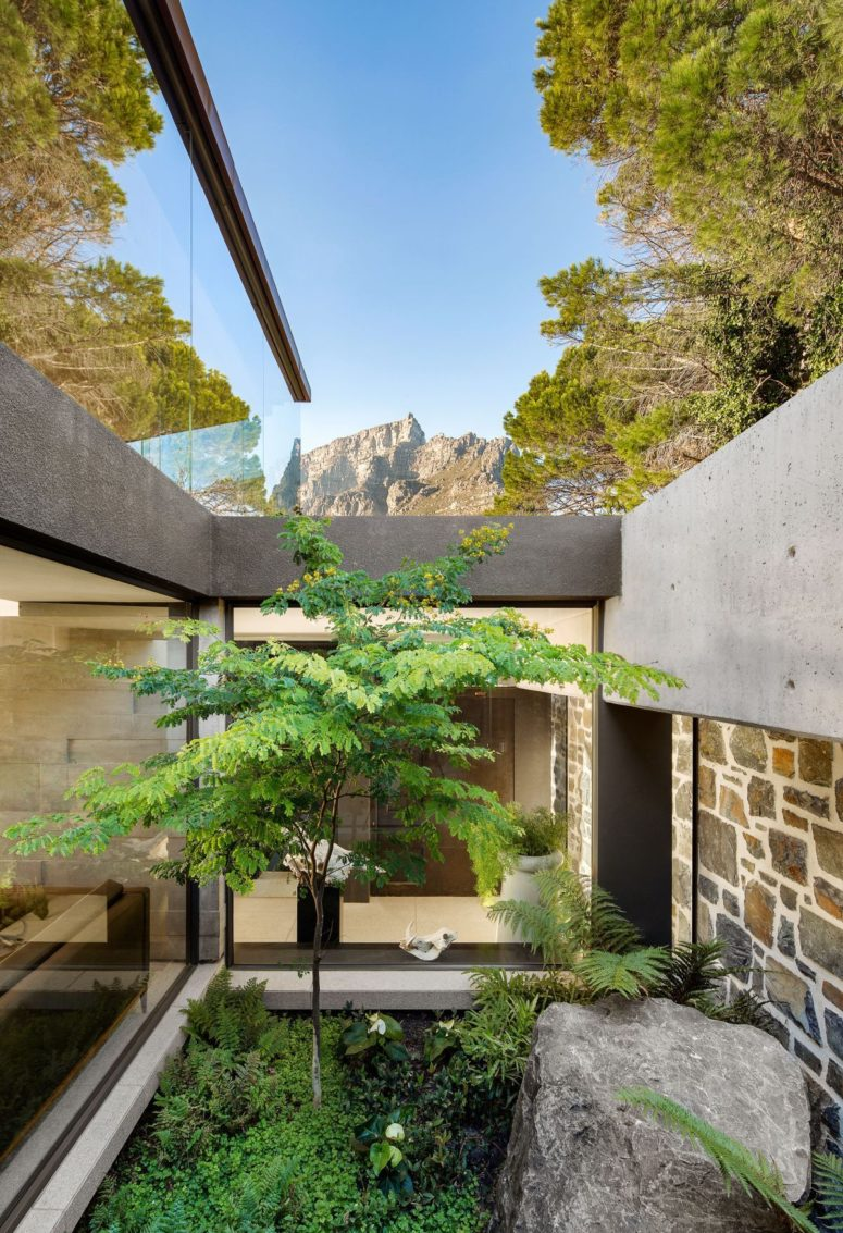 Here's a secret courtyard that refreshes the spaces and makes them more welcoming