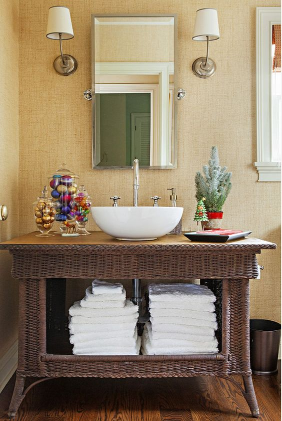 if your bathroom is neutral, you may incorporate some bright shades into your decor