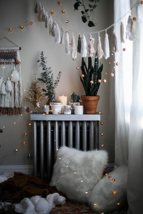 some twinkle lights over your space are right what you need to cozy up the space