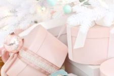 14 pastels can be another nice idea for Christmas decor, they are neutral yet bring some color to the space