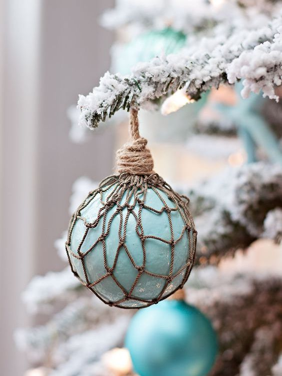 a faux glass float Christmas ornament is ideal for tree decorating and will take you a couple of minutes to craft