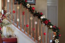 16 decorate the railing with evergreens and some ornaments of your choice, no floor space taken