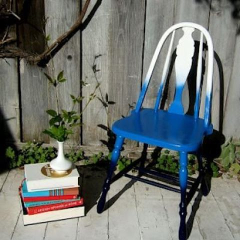 an ombre blue accent chair is an easy DIY project even for a starter, make one yourself of an old chair