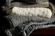 23 if you feel like crafting, DIY some cozy fabric, crochet and knit throws for your hygge holidays
