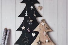 24 such plywood Christmas trees don't take much floor space, they are a great alternative to usual ones