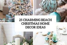 25 charming beach christmas home decor ideas cover
