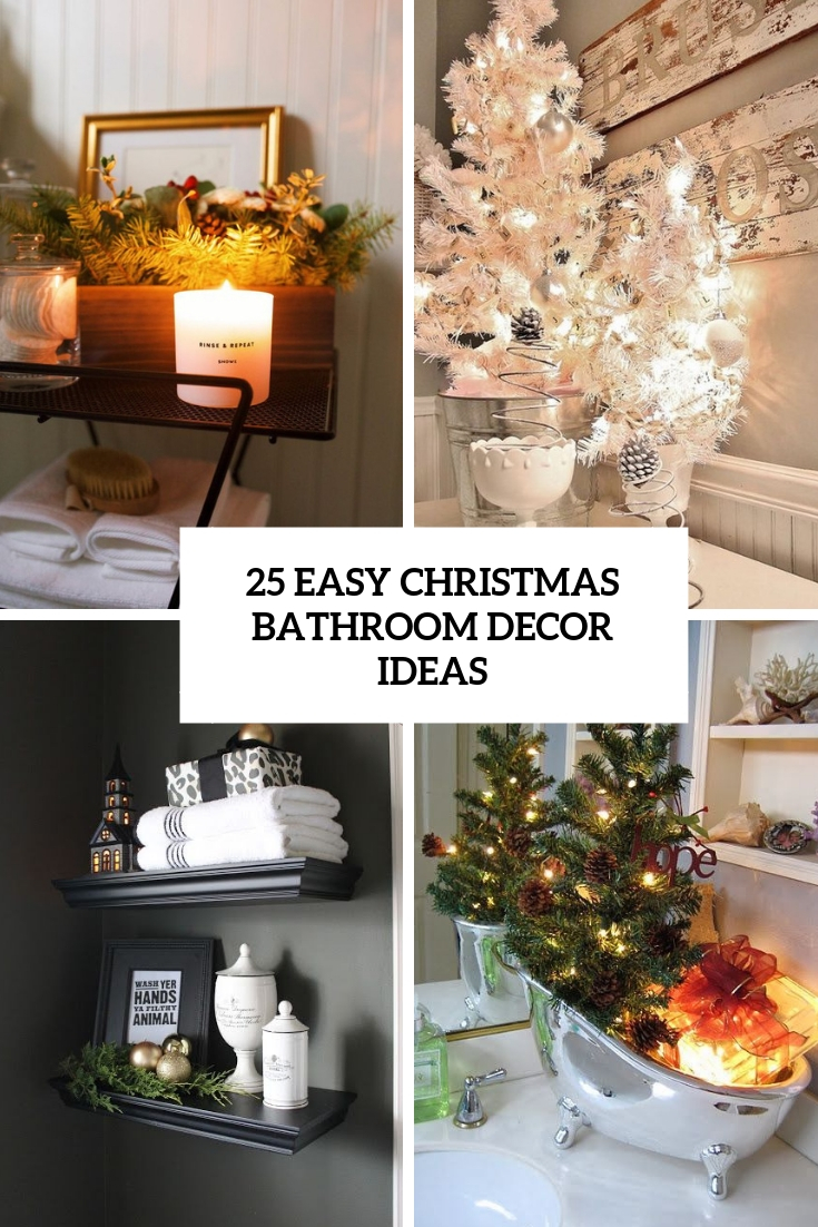 Easy christmas bathroom decor ideas cover