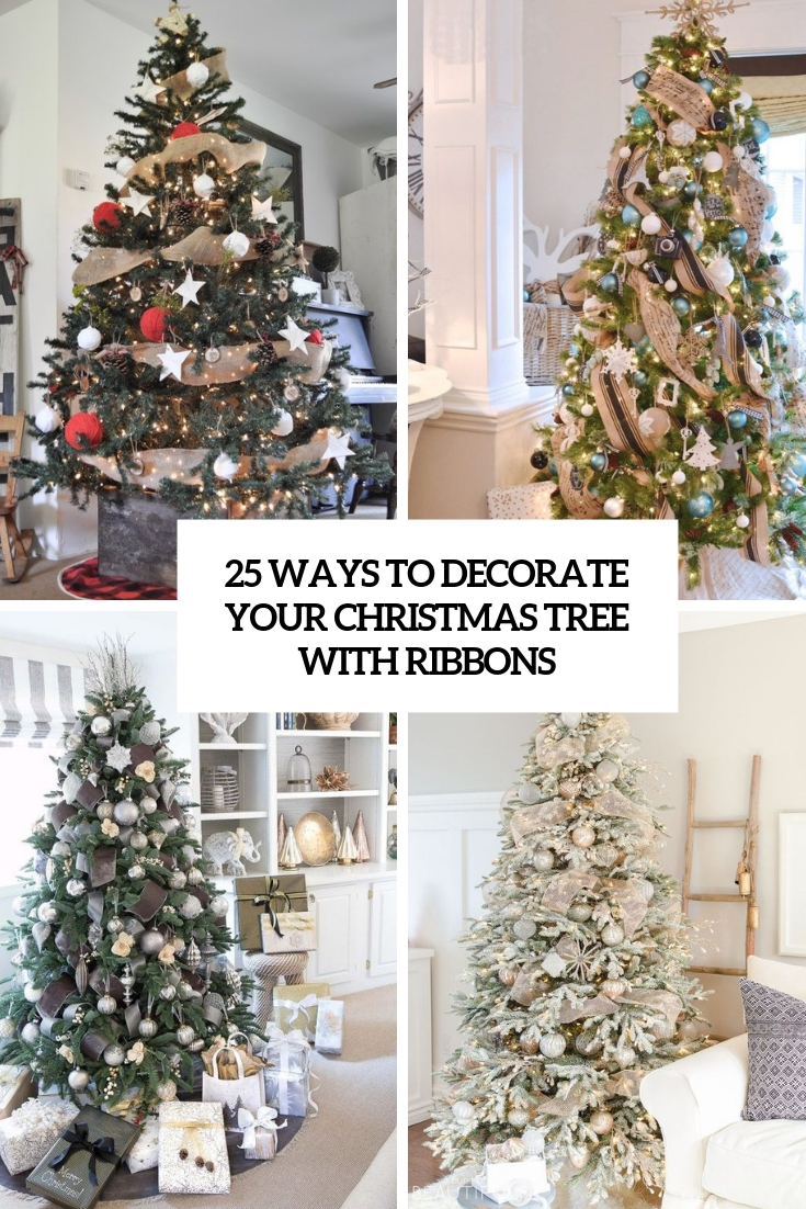 ways to decorate your christmas tree with ribbons cover