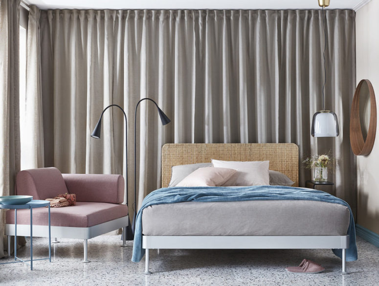 Delaktig bed is a Queen sized piece created by IKEA in collaboration with Tom Dixon, it features modern design and all the characteristic features of IKEA   personalizing and modularity