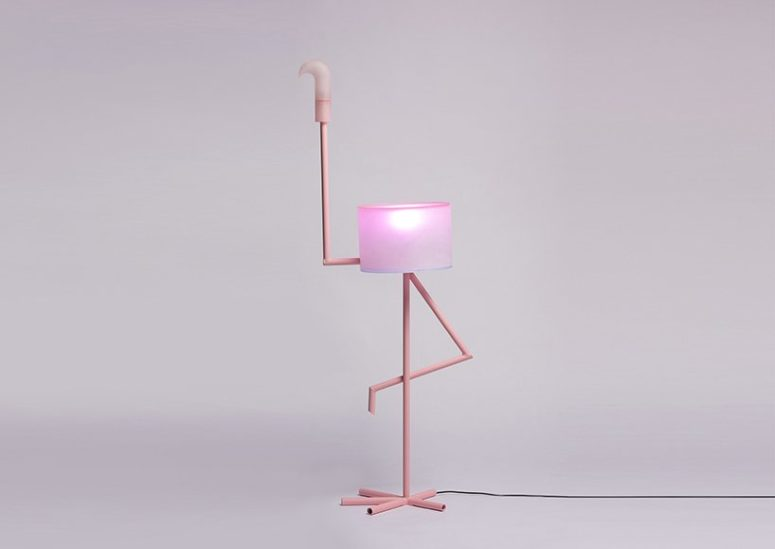 Fun And Whimsy 'I Am Cutie' Flamingo Lamp