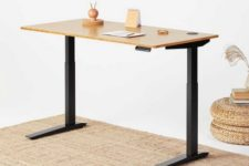 01 Jarvis is a standing desk with adjustable height, which is completely customizable for each user