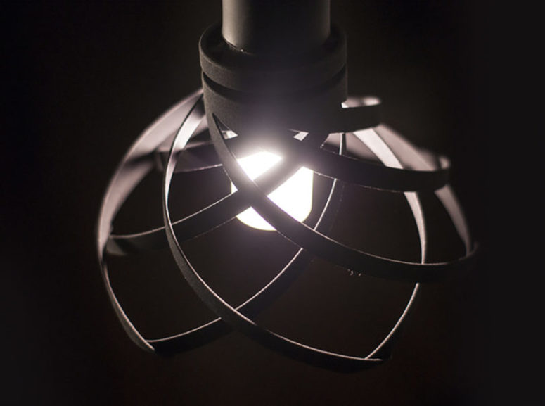 3D Pendant Lamp That Dims With A Twist