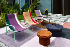 01 The Maraca lounge chair is inspired by the traditional Colombian hammocks and its colors and textiles show that off