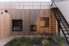 01 This house is located on the French seaside and is clad with pine slabs for a modern look
