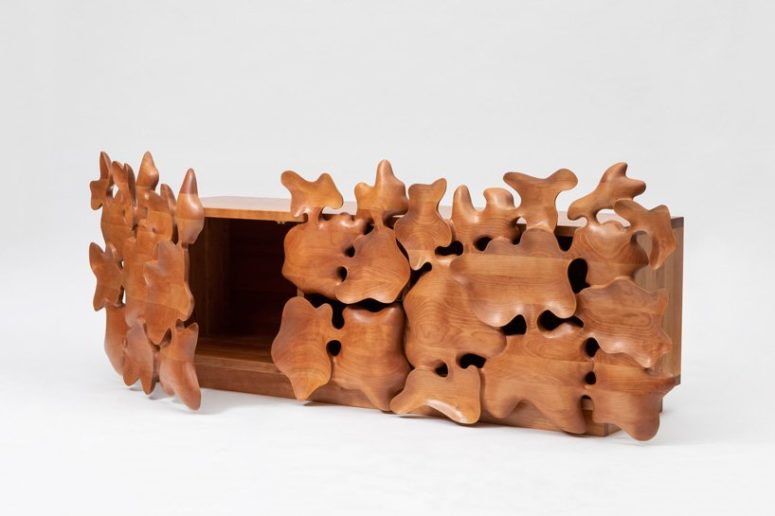Furniture Series Of Hand-Carved Wooden Shapes