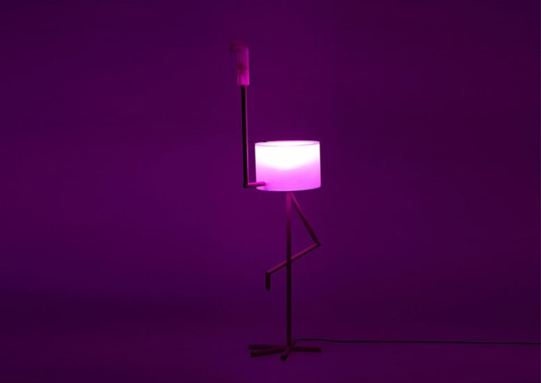 Such a lamp, table and cabinet is a very fun and cool lamp idea