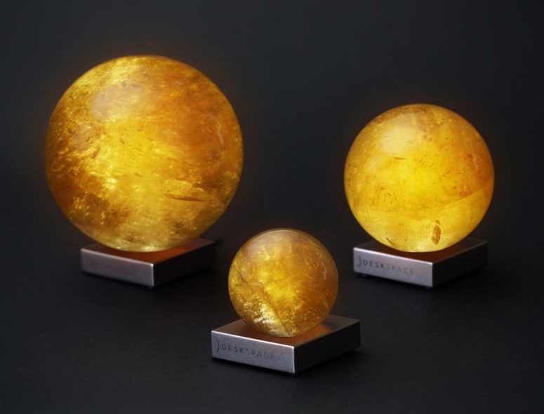 The Sun Mood Lamp is available in three different sizes and each can have the LED lighting adjusted to fit your needs