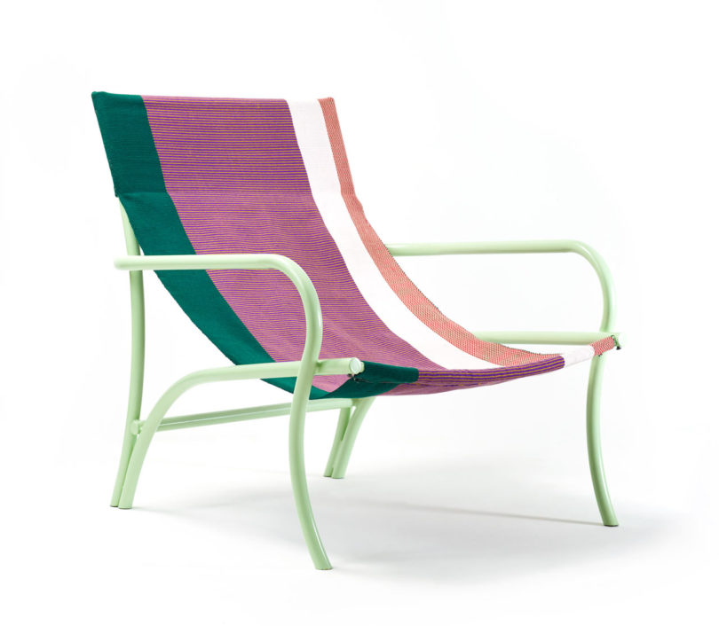 The chairs come in various bright colors and with awesome patterns