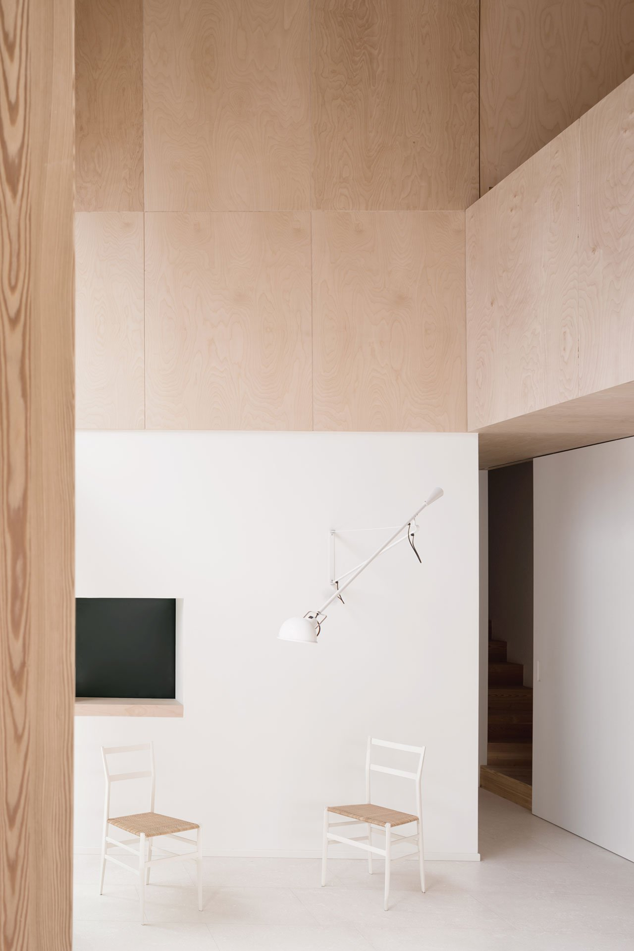 minimalist interior decor of this house is trendy and cool