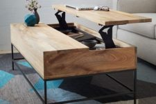 04 a minimalist coffee table that can be transformed into a desk or dining table easily and features storage