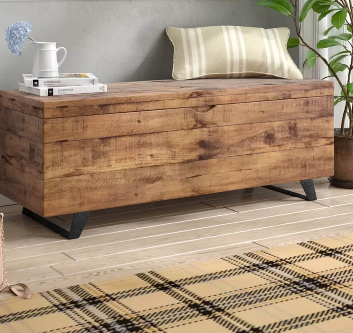 a right coffee table can double as a storage trunk in your living room and you may use it as a bench
