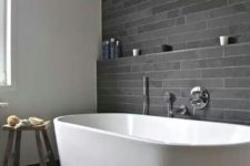 05 same grey stone tiles – longer and narrow ones on the walls and large ones on the floor
