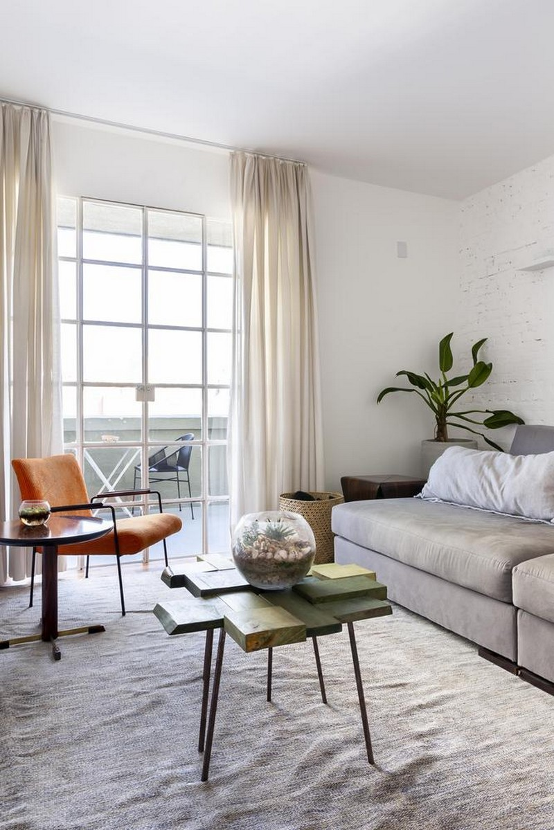 living room design with a creative coffee table