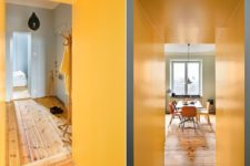 06 The walls are painted in faints hues of grey, light blue and olive green which contrast with the rest of the colors