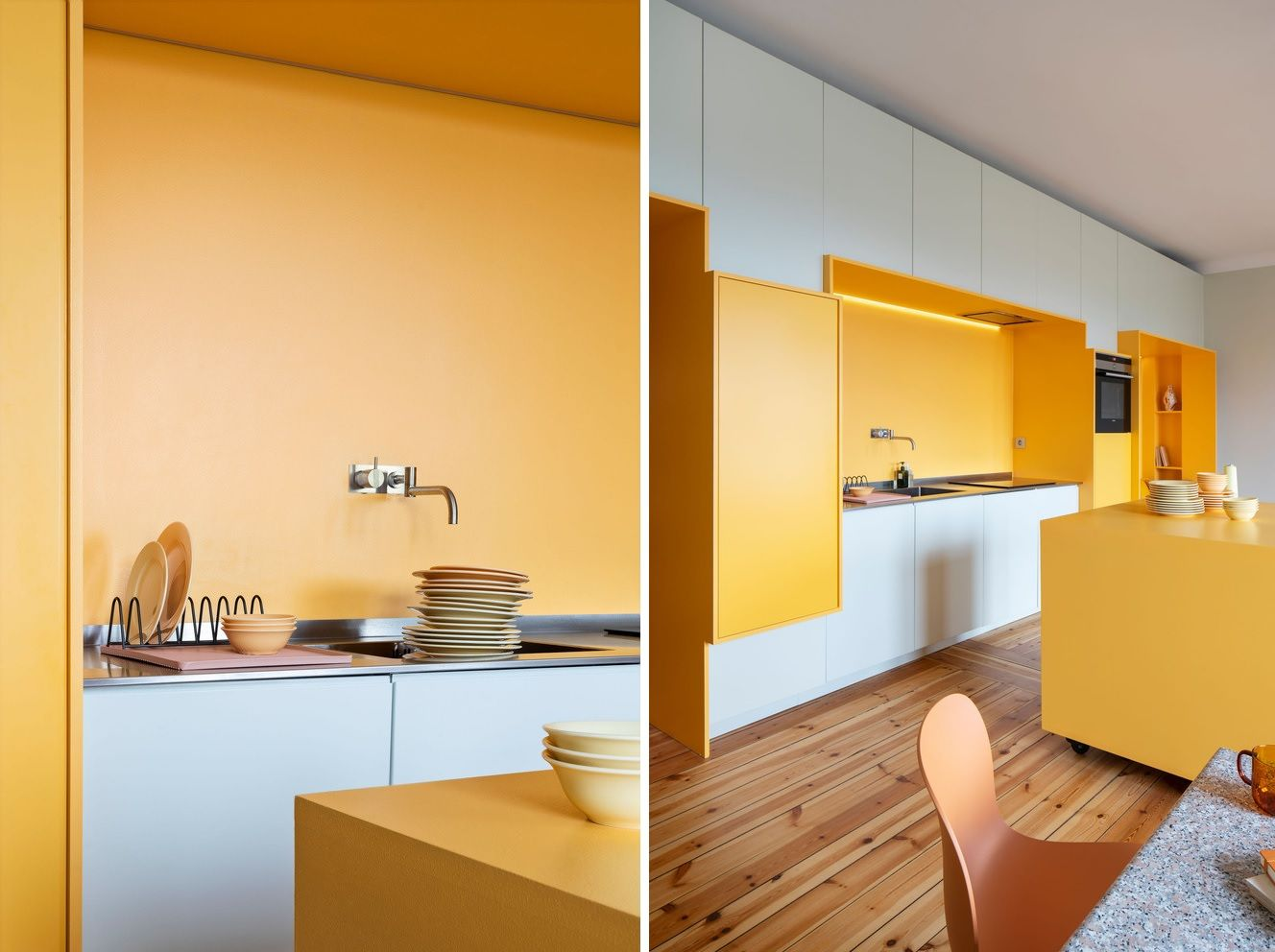 In addition to having a cheerful and welcoming vibe, the apartment is also very bright and airy