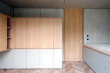 kitchen with practical hidden storage solution