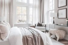 07 a neutral bedroom with touches of blush and dusty pink to make it catchy and add a girlish feel