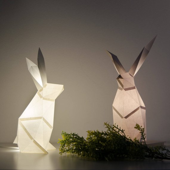 A duo of geometric rabbits is a gorgeous idea for your space