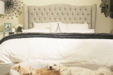 09 a little upholstered bench or couch can be used by your pets for sleeping easily