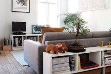 09 a sleek modern console table with plenty of storage is a nice idea for a modern living room