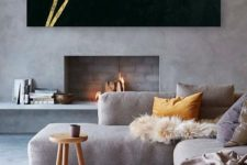 10 a contemporary L-shaped sofa to overwhelm your living room and set a tone