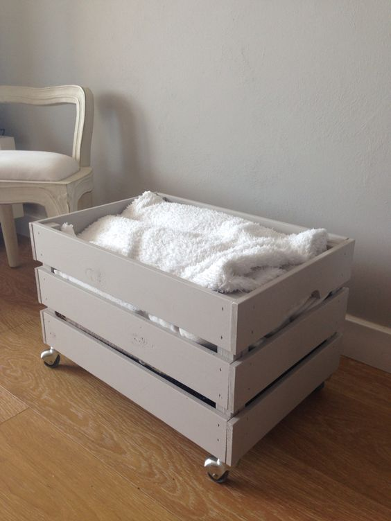 place your Knagglig box on casters and use it for storage in any room, you may paint it as you like or leave it unpainted