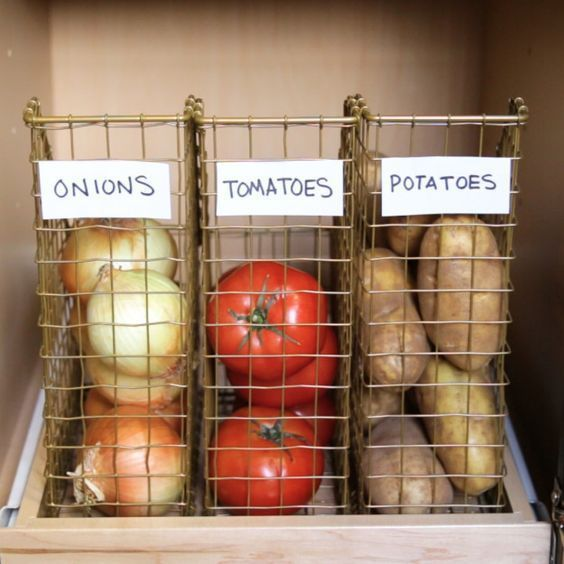 such wire binders for papers can be used for storing vegetables and fruits, too, it's a simple idea