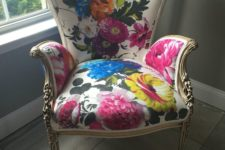 floral upholstery can modernize any space