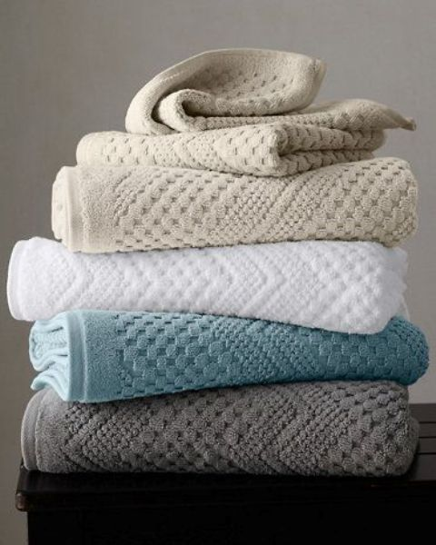 buy at least two sets of towels and try to match them with your bedding