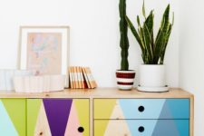 14 make a basic sideboard with touches of bright colors and it will personalize your home