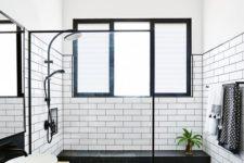 stylish bathroom design with hexagon tiles