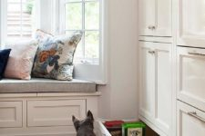 18 a drawer with a pet feeding station and some dog food stored here, too, is a very comfy idea