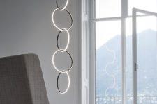 18 light circles is a unique contemporary idea for a minimalist space