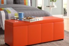 20 a stylish and modern bright ottoman with a storage space can be used in a bedroom, too