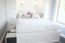 21 a bed with many storage drawers is a brilliant idea that is completely hidden
