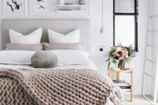 21 a chunky knit blanket and velvet pillows are right what you need to cozy up your bed