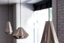 21 goemetric faceted pendant lamps in the kitchen will make your space wow