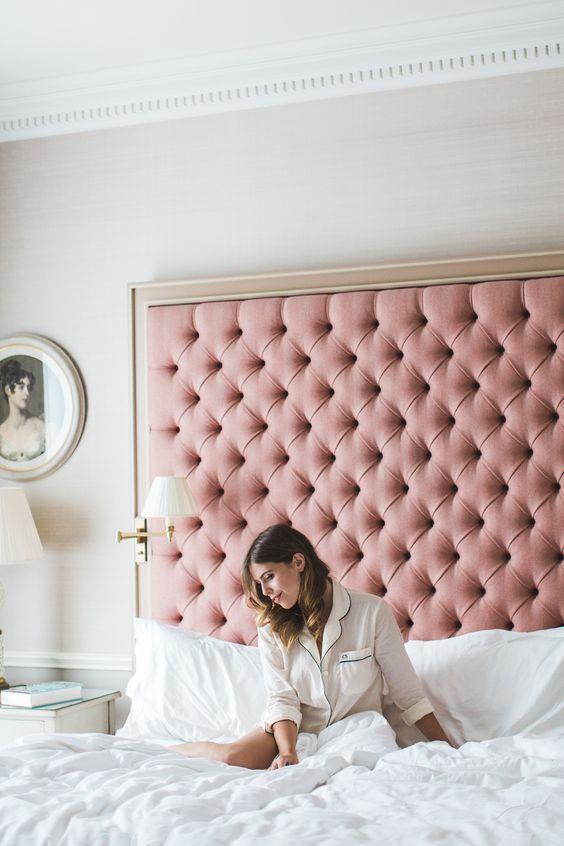 cute pink feminine headboard