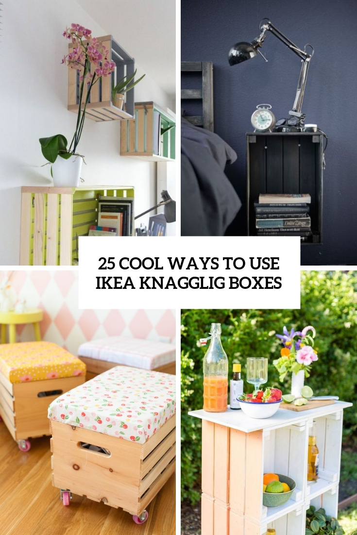 25 Cool Ways To Use IKEA Knagglig Boxes