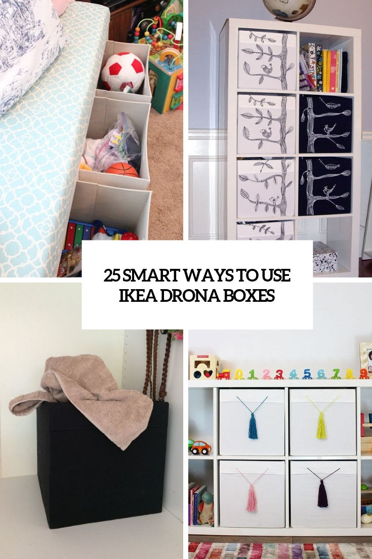 smart ways to use ikea drona boxes cover